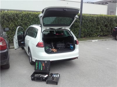 Zabuchnuté auto VW Golf